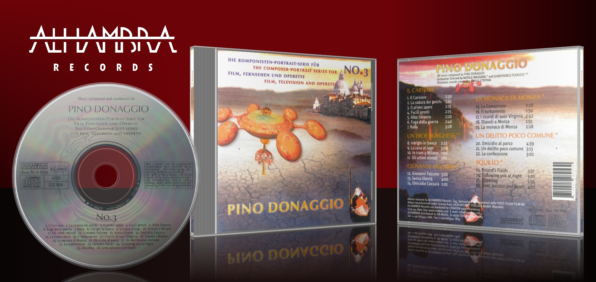 Die Komponisten-Portrait Serie für Film, Fernsehen und Operette Vol. 3 – Pino Donaggio