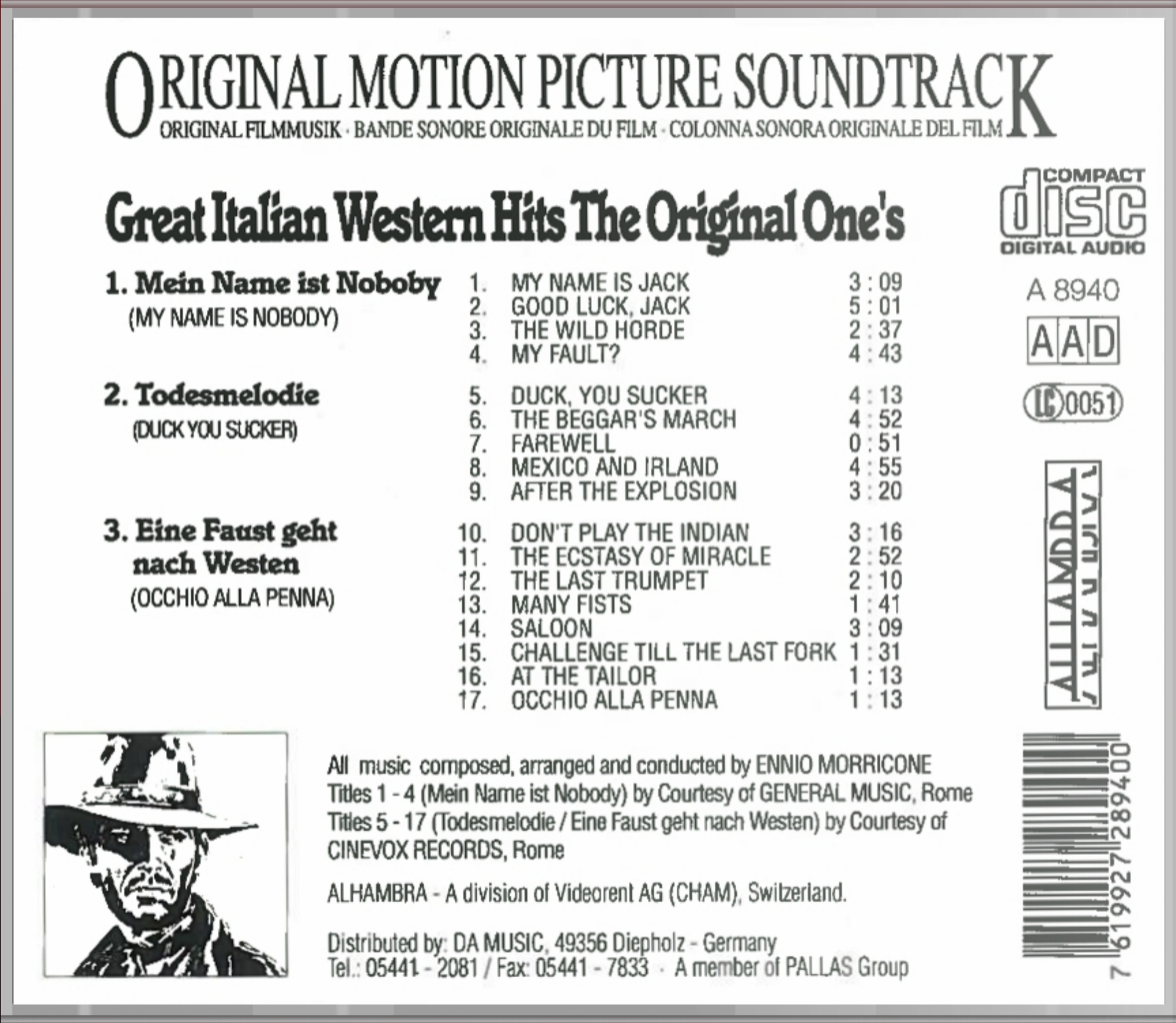 Ennio Morricone Great Italian Western Hits The Original Ones